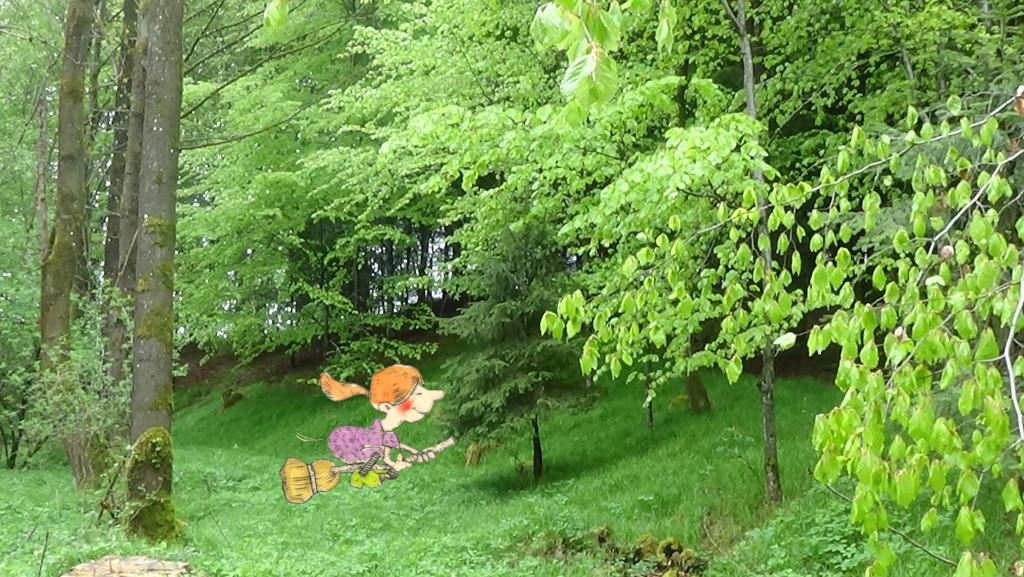 Hexenritt im Wald